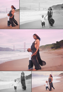 Baker Beach Nude Maternity Session