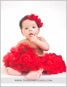 an image from a TeAirra Mitchell Photography 3 month portrait session.