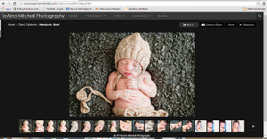 Example of the layout of TeAirra Mitchell Photography online galleries